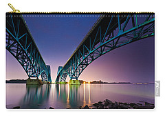 Carry-all Pouch featuring the photograph South Grand Island Bridge by Mihai Andritoiu
