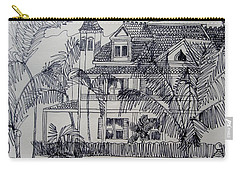 Carry-all Pouch featuring the mixed media Southernmost House  Key West Florida by Diane Pape