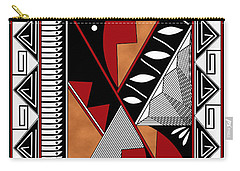 Southwest Collection - Design Seven In Red Carry-all Pouch