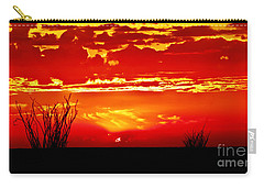 Southwest Sunset Carry-all Pouch by Robert Bales