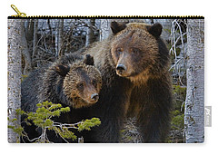 Carry-all Pouch featuring the photograph Sow And Cub by J L Woody Wooden