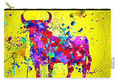 Spanish Bull Carry-all Pouch by Daniel Janda