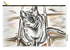 Spanish Cat Waiting Carry-all Pouch by Teresa White
