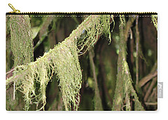 Spanish Moss In Olympic National Park Carry-all Pouch by Connie Fox