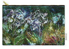 Carry-all Pouch featuring the painting Sparkle In The Shade by Mary Wolf