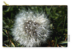 Carry-all Pouch featuring the photograph Sparkler - Dandelion Flower by Ramabhadran Thirupattur