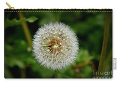 Carry-all Pouch featuring the photograph Sparkling Dandelion by Debra Martz