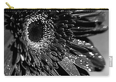 Sparkling Gerbera In Monochrome Carry-all Pouch