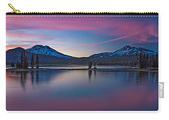 Sparks Lake Reflections Carry-all Pouch by Patricia Davidson