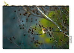 Sparrow In The Warm Light Carry-all Pouch by Shelby  Young