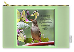Sparrow Inspiration From The Book Of Luke Carry-all Pouch