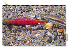 Carry-all Pouch featuring the photograph Spawning Pair by Jim Thompson