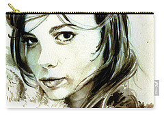 Special Friend Portrait Carry-all Pouch by Alban Dizdari
