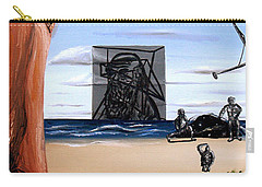 Carry-all Pouch featuring the painting Species Differentiation -darwinian Broadcast- by Ryan Demaree