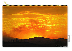 Carry-all Pouch featuring the photograph Spectacular Nevada Sunset  by Phyllis Kaltenbach