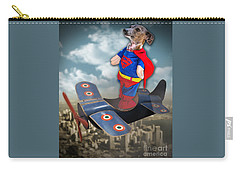 Carry-all Pouch featuring the digital art Speedolini Flying High by Kathy Tarochione