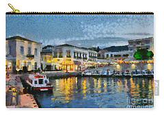 Spetses Town During Dusk Time Carry-all Pouch