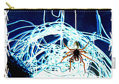 Carry-all Pouch featuring the digital art Spider by Daniel Janda