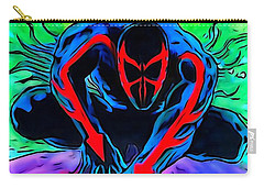 Carry-all Pouch featuring the drawing Spider-man 2099 Illustration Edition by Justin Moore