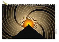 Carry-all Pouch featuring the digital art Spin Art by GJ Blackman