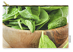 Spinach Carry-all Pouch by Elena Elisseeva