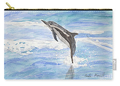 Spinner Dolphin Carry-all Pouch by Pamela  Meredith