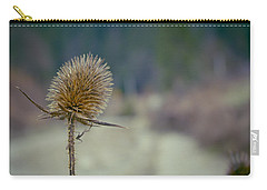 Spiny Weed Close-up Carry-all Pouch by Vlad Baciu