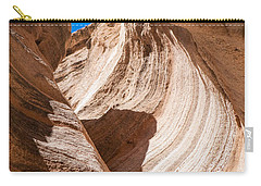 Carry-all Pouch featuring the photograph Spiral At Tent Rocks by Roselynne Broussard