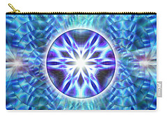 Carry-all Pouch featuring the drawing Spiral Compassion by Derek Gedney