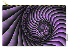 Spiral Purple And Grey Carry-all Pouch by Gabiw Art