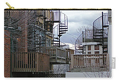 Carry-all Pouch featuring the photograph Spiral Stairs by Brian Wallace