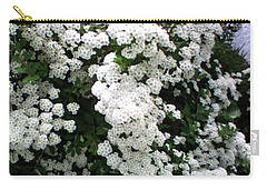 Spirea Bridal Veil Carry-all Pouch by Barbara Griffin
