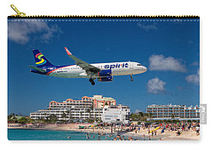 Spirit Airlines Low Approach To St. Maarten Carry-all Pouch