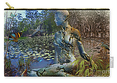 Carry-all Pouch featuring the digital art Spirit Of The Land by Shadowlea Is
