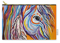 Carry-all Pouch featuring the painting 'spirit' War Horse by Janice Rae Pariza
