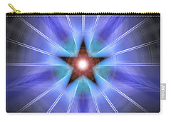 Carry-all Pouch featuring the drawing Spiritual Pulsar by Derek Gedney