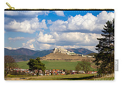 Carry-all Pouch featuring the photograph Spissky Hrad - Castle by Les Palenik