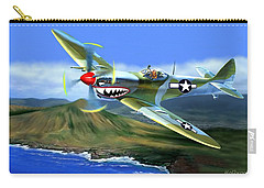 Spitfire Over Hawaii Carry-all Pouch by Glenn Holbrook