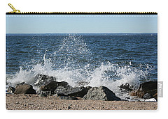 Carry-all Pouch featuring the photograph Splash by Karen Silvestri