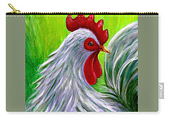 Splashy Rooster Carry-all Pouch by Sandra Estes