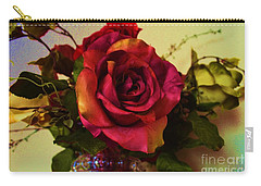 Splendid Painted Rose Carry-all Pouch