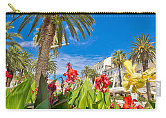Split Riva Palms And Flowers Carry-all Pouch