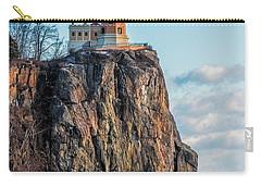Split Rock Lighthouse In Winter Carry-all Pouch by Paul Freidlund