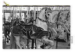 Carry-all Pouch featuring the photograph Spokane Carousel by Jani Freimann