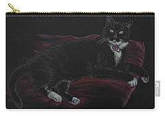 Spooky The Cat Carry-all Pouch by Michele Myers