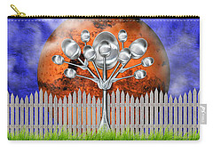 Carry-all Pouch featuring the mixed media Spoon Tree by Ally  White