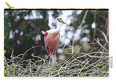 Spoonbill In The Branches Carry-all Pouch by Carol Groenen