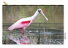 Spoonbill In The Pond Carry-all Pouch by Carol Groenen