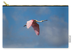 Carry-all Pouch featuring the photograph Spoonie In Flight by John M Bailey