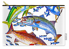 Sportfish Collage Carry-all Pouch by Carey Chen